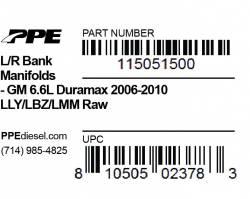 PPE Diesel - L/R Bank Manifolds GM Duramax 06-10 Inchraw Inch PPE Diesel - Image 2