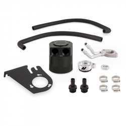 2011-2016 Ford 6.7L Powerstroke - Engine Parts - Mishimoto - Ford 6.7L Powerstroke Baffled Oil Catch Can Kit, 2011–2016 - MMBCC-F2D-11BE