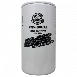 6.6L LML Fuel System & Components - Fuel Supply Parts - FASS - FASS XWS-3002XL Extended Length Extreme Water Separator