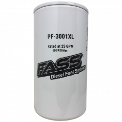 6.6L LML Fuel System & Components - Fuel Supply Parts - FASS - FASS PF-3001XL Extended Length Particulate Filter