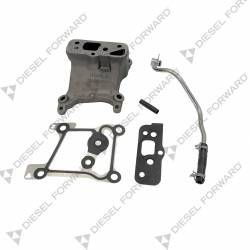2011-2016 Ford 6.7L Powerstroke - Turbo Chargers & Components - Diesel Forward - Turbo Pedestal Internal Oil Feed Upgrade Kit For 2015-2016 Ford F250 / F350 6.7 Powerstroke
