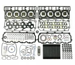 Engine Parts for Ford Powerstoke 6.0L - Cylinder Head Parts - TrackTech Fasteners - Complete Top End Cylinder Head Gasket / Studs Service Kit for 03-10 6.0L Powerstroke