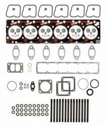 TrackTech Fasteners - TrackTech Complete Top End Cylinder Head Gasket / Studs Service Kit For 89-98 5.9L Cummins 12V
