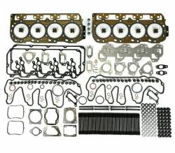 Engine Parts - Cylinder Head Parts And Kits - TrackTech Fasteners - TrackTech Complete Top End Cylinder Head Gasket / Studs Service Kit For 07.5-10 Duramax LMM