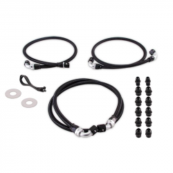 Transmission & Transfer Case - Automatic Transmission Parts - Mishimoto - Mishimoto Transmission Cooler Line Kit Fits Chevy/GMC 6.6L Duramax (LB7/LLY) 2001-2005