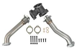 1999-2003 Ford 7.3L Powerstroke Parts - Ford 7.3L Engine Parts - Spoologic - SPOOLOGIC 409SS Exhaust Up-Pipes Kit For 99.5-03 7.3L Powerstroke