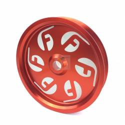 - Fleece Performance - Cummins Dual Pump Pulley For use with FPE Dual Pump Bracket Red Fleece Performance