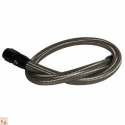 1998.5-2002 Dodge 5.9L 24V Cummins - Dodge 5.9L Cooling System Parts - Fleece Performance - 34.5 Inch Common Rail/VP44 Cummins Coolant Bypass Hose Stainless Steel Braided Fleece Performance