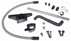 Cooling System - Cooling System Parts - Fleece Performance - Cummins Coolant Bypass Kit 03-05 Auto Trans with Stainless Steel Braided Line Fleece Performance