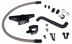 Cooling System - Cooling System Parts - Fleece Performance - Cummins Coolant Bypass Kit 06-07 Auto Trans with Stainless Steel Braided Line Fleece Performance