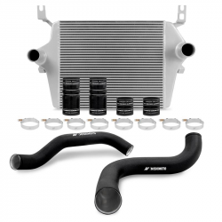1999-2003 FORD 7.3L POWERSTROKE - Air Intakes & Accessories - Mishimoto - Mishimoto Intercooler kit for Ford 7.3L Powerstroke 1999–2003 - Silver / Black Wrinkle Pipes