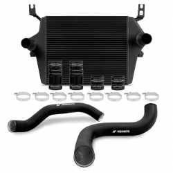 1999-2003 FORD 7.3L POWERSTROKE - Air Intakes & Accessories - Mishimoto - Mishimoto Intercooler kit for Ford 7.3L Powerstroke 1999–2003 - Black / Black Wrinkle Pipes