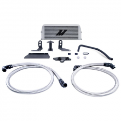 2011–2016 Ford 6.7L Powerstroke Parts - Ford 6.7L Engine Parts - Mishimoto - Mishimoto Performance Engine Oil Cooler for Ford 6.7 Powerstroke 2011-2019 - Silver