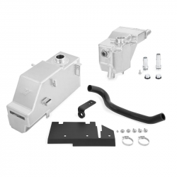 2011–2016 Ford 6.7L Powerstroke Parts - Ford 6.7L Cooling System Parts - Mishimoto - Mishimoto Aluminum Degas Bottle Tank Kit fits 2011-2019 Ford 6.7L Powerstroke