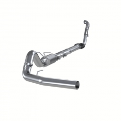 """MBRP Exhaust - MBRP 4"""" Turbo Back, Single Side Exit (Aluminized 3"""" downpipe) S6218P"""